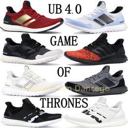 Baseball tops männer online-TOP Ultraboost UB 4.0 x Game of Thrones Herren Damen Laufschuhe dreifach Weiß Schwarz Multicolor Damen Designer Sneakers UNDFTD