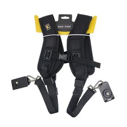 Correa de hombro slr online-Correa para cámara profesional de alta calidad Correa doble para el hombro 2 cámara réflex digital dslr accesorios para fotografía arnés para el hombro