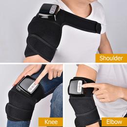 2019 vibrierende heizmassagegerät Far Infrared Heizung Therapie Massager Joint Knie Schulter Ellbogen Physiotherapie Massage Arthritis Erholung Schmerzlinderung günstig vibrierende heizmassagegerät