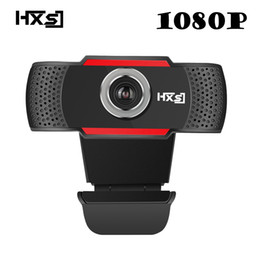 computer resolutions Coupons - HXSJ USB Web Camera 1080P HD 2MP Computer Camera Webcams Built-In Sound-absorbing Microphone 1920 *1080 Dynamic Resolution