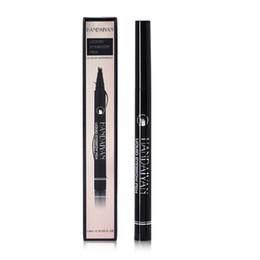 Augenbrauen stift online-Micro Eyebrow Pencil 4-Fork 5 Farben Liquid Eye Brow Pen Dauerhafte 24-Stunden-Wasserdicht Natural Black brown