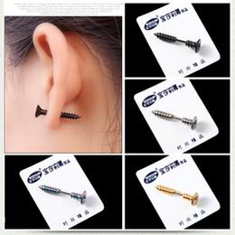 Tragus Piercing Jewelry Stud Cartilage Ear Piercing Body Jewelry Pendiente de tornillo Joyería personalizada de doble cara Regalos festivos Body Arts desde fabricantes