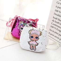 Sacos De Lantejoulas Crianças Designer de Surpresa Bonecas Crossbody Bag Meninas Presentes Dos Desenhos Animados Presentes de Natal Saco Do Mensageiro 6 Cores de