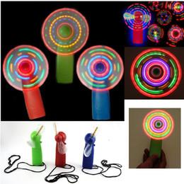 Verão levou mini ventilador colorido pequeno flash do ventilador brinquedo Rave LED Iluminado Brinquedos das Crianças melhor presente com caixa de