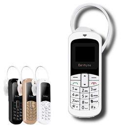 Tarjeta iphone 2g online-100% original oreja rima M9 Mini teléfono Auricular Bluetooth 14 tipos de idioma compatible con Mobile y Unicom 2G 3G 4G Tarjeta Micro SIM