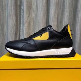 2019 Top Quality FD marchi di lusso FUN FUR scarpe da ginnastica di design in vera pelle regalo mens donna Racer vendita calda sport stivali casual New1804 da