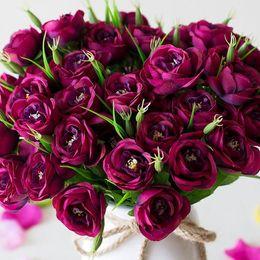 2019 искусственные тычинки Маленькие Шелковые Поддельные Искусственные Цветы 6 вилок Fleur Artificielles Camellia Peony Stamens Flores Artificiales Para Decoracion Hogar скидка искусственные тычинки