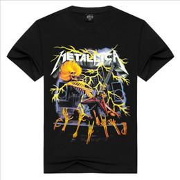 camisa de esqueleto 3d Rebajas Moda 3D esqueleto humano hacer guitarra impresa camiseta hombres o cuello casual hip hop manga corta hombres ropa