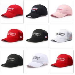 2019 paare hüte Heißer Donald Trump Baseballmütze Designer Hut Snack Outdoor Stickerei Sonnenhut Unisex Reise Strand Paar Ball Cap Party Hüte 3 Farbe HH9-2165 günstig paare hüte