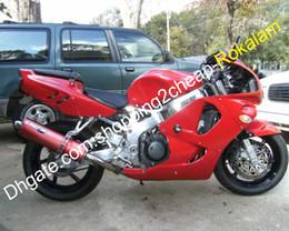 1996 honda cbr body kit on-line-96 97 kit de corpo de moto para honda CBR900RR 893 1996 1997 CBR CBR893 CBR900 900RR RR vermelho Sport motocicleta carenagem conjunto