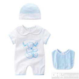 2019 vestidos marrones monos 2019 Cuello redondo Ropa de uniforme de algodón Nuevo bebé recién nacido mameluco de la muchacha del muchacho Ropa de manga larga infantil Producto Primavera Otoño-25