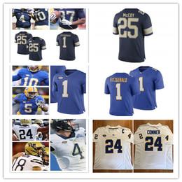 0281ee7b8 Custom NCAA James Conner College Football Jersey LeSean McCoy Larry  Fitzgerald Q.Henderson Dion Lewis Darrelle Revis Pitt Panthers Jersey