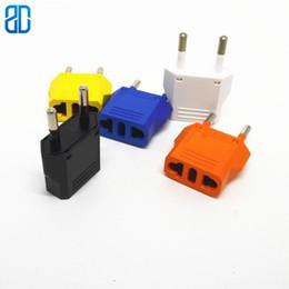 2019 filtro elétrico 1 PCS EUA Para Plugue DA UE Power Adapter Laranja Viagem Plug Power Adapter Converter Wall Charger