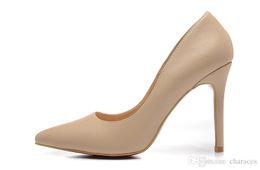 Canada Talons hauts en cuir véritable de 10 cm pour femmes couleur véritable pompes à bout pointu, chaussures de soirée pour dames de marque de luxe rouge Offre