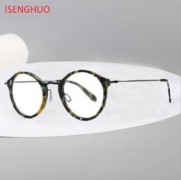 2019 vidros vintage coreia Acetato b titanium óculos de armação mulheres 2019 retro vintage óculos de prescrição rodada homens óculos ópticos coréia eyewear desconto vidros vintage coreia