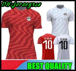 Camisas de egipto online-2019 Egypt JERSEYS DE FÚTBOL 2019 2020 M.SALAH FIRMINO HEGAZI 6 RAMADAN 14 Camiseta de fútbol SALAH keita Uniformes de fútbol
