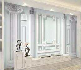2019 пластиковые мозаичные плитки настенные бумаги домашнего декора дизайнеры Современный минималистский вертикальная линия европейская римская колонна 3D-телевизор диван фоне стены