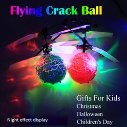 big light balls Coupons - Toy Flying Ball Helicopter LED Lighting Sensor Suspension Remote Control Aircraft flashing whirly Ball Built-in Shinning gifts for Kids