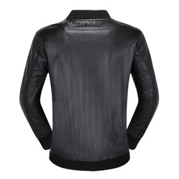 Herren-oberbekleidung online-Herren PP Lederjacken Stehkragen Mäntel Männlich Motorrad Slim Oberbekleidung Herren Markenkleidung