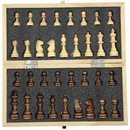 jogos de rainha Desconto Magnético Dobrável Xadrez De Madeira Conjunto de Placa Tamanho 23.7 Cm X 23.7 Cm Extra Rainha Jogos de Tabuleiro Caçoa o Presente Brinquedo Para Viagens Portátil SH190723