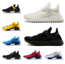 sale retailer 7c64f 0ac47 adidas nmd Human Race Schwarz Weiß Gelb für Damen Herren Runing Sneakers  Sportschuhe Limited Sportschuhe Lace-up Männer Trainer Schuhe