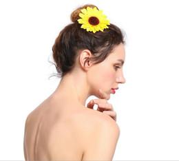 Fermagli per capelli Donna Fiore di sole Tornante Al mare Vacanze Spiaggia Foto Copricapo Ragazza Moda Fiore Accessori per capelli da