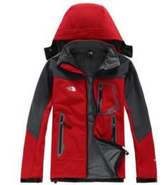 2019 abrigo de piel azul abrigo hombres TOP norte Hombres chaqueta de Softshell capa de abrigo Hombres Aire libre Abrigos deportivos mujeres Esquí Senderismo A prueba de viento Invierno Outwear Cáscara suave hombres senderismo chaqueta