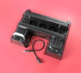 2019 contrôleur de ventilateur Support vertical 2 en 1 pour station de charge pour contrôleur de ventilateur de refroidissement PS4 Slim PRO et concentrateur USB à 2 ports promotion contrôleur de ventilateur