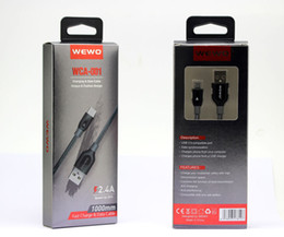 Argentina 5 unids embalaje original WEWO Cable USB para teléfono i nylon trenzado micro usb cables de alta velocidad cargadores de teléfonos Huawei P20 para iOS Android Suministro