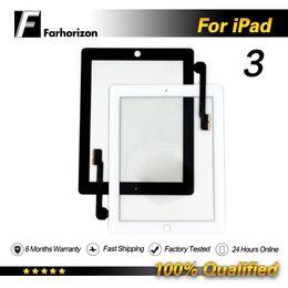 Цена сенсорной панели онлайн-Для iPad 3 ЖК-Дигитайзер Стекло Замена Сенсорный Экран Переднего Стекла Панель Оптовая Цена Бесплатная Доставка