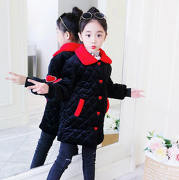 H564 Winter Child Clothes 2018 Fashion Leisure versione coreana Long Girl Coat Età 6-14 anni Vendita al dettaglio da