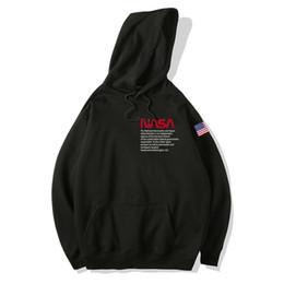 Agencia Espacial de Aviación Sudaderas con capucha Sweat Men 2019 Impreso Vellón Otoño Hombre Hip Hop Jersey suelto Sudaderas sólidas desde fabricantes