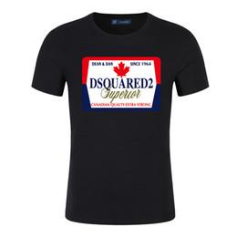 polo deportivo diseño de la camisa Rebajas 2019 Canadá DQ2 verano camisa para hombre del diseño de las camisetas de la letra del algodón ropa hombres de impresión de lujo del polo o cuello de la manera mujeres de la camisa de deportes S-5XL