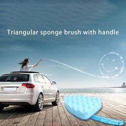 Esponjas triangulares on-line-Triângulo Esponja Escova Com Lidar Com Onda Azul Lavagem de Carro Esponja Escova de Lavagem de Carro Ferramenta de Limpeza de Beleza de Manutenção