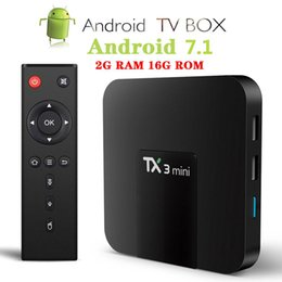 Scatole di streaming online-TV-Box Caldo suggerisca Android TX3 MINI 2GB 16GB S905W quad core Smart TV 4K BT WiFi Streaming Scatole limitata mini regalo tastiera
