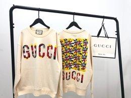 Camisolas coreanas bonitos on-line-2019 Mulheres bonitos versão coreana camisola algodão importado terry bonito importados em torno do pescoço camisola de manga comprida para as mulheres