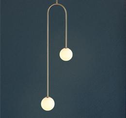 lâmpadas de jantar Desconto 2019 Geometria Nórdica Construído Em Forma de U Led Luzes Pingente Lâmpadas Modernas Jantar Sala de estar Pendurado Luminárias Frete Grátis