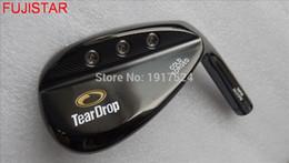 Boas cunhas on-line-FUJISTAR GOLF TearDrop Fria cabeça de cunha de golfe forjado rosto moído bom para a rotação da bola de cor preta