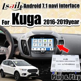 2019 ford kuga escape Android 7.1 Navigazione GPS Scatola di interfaccia video multimediale per Ford Kuga / Escape SYNC3 2016-18 supporto Riproduzione automatica di Lsailt sconti ford kuga escape