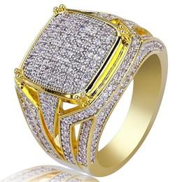 панк-рок полный палец кольца Скидка Modyle Punk Rock Золотой Цвет Мужское Кольцо Роскошный Полный CZ Камень Модное Кольцо для Женщин