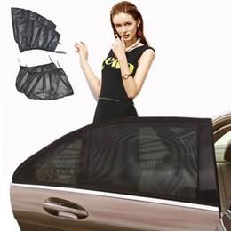 Auto Sonnenschutz Net Vorhang Tragbare Abdeckung Typ Auto 2 Stücke Schwarz Schild UV Mesh Stoff Autofenster Wärmedämmung Transluzente Sommer von Fabrikanten
