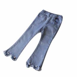 jeans coreani dei capretti Sconti Vendita al dettaglio ragazze coreane di perle jeans skinny pantaloni del chiarore dei jeans delle calzamaglia per bambini sudore Designer ABBIGLIAMENTO Abbigliamento Moda bambini