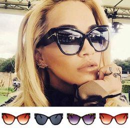 e7d3a3f572f84 2019 große katzenaugen-sonnenbrille Mode Cat Eye Sonnenbrillen Damen Retro  Vintage Shades Übergroße Designer Large
