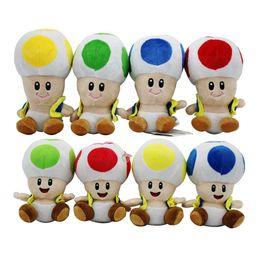 Fumetto della testa di funghi online-17 cm / 7 pollici Super Mario peluche cartoon Super Mario Mushroom testa di peluche per bambino regalo di Natale