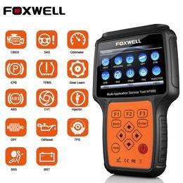 2019 bluetooth vag FOXWELL NT650 OBD2 Escáner automotriz ABS Airbag SAS DPF Inyector Codificación Herramienta de diagnóstico del coche