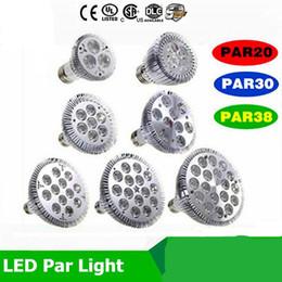 Bombilla led par38 25w online-Bombilla led regulable par38 par30 par20 9W 10W 14W 18W 24W 30W E27 par 20 30 38 Iluminación LED Spot Lámpara luz downlight