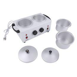 Outil électrique d'épilation de poêle à double pot de cire machine à mains de cire outil de beauté de salon de thérapie de cire de paraffine de beauté ? partir de fabricateur