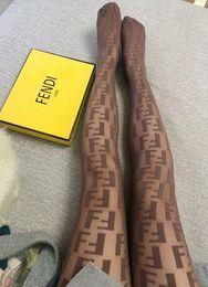 2019 chinchila atacado FF Sexy Meias Transparentes Europa E América Moda Maré Logotipo Mulheres Meias Apertadas Evitar Gancho De Seda Meia-calça
