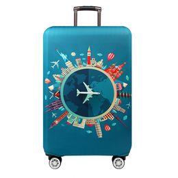 Funda de equipaje elástica online-Más grueso Maleta de viaje Funda protectora Maleta para equipaje Potovalni dodatki Elástica maleta para polvo Aplica a 18 '' - 32 '' Suitcase3