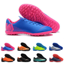 Argentina Zapatillas de deporte de diseño 2019 en rosa, azul y naranja Zapatillas de fútbol Mercurial Superfly VII 12 XII Club CR7 Cristiano Ronaldo Botas de fútbol Zapatos de fútbol sala cheap football boots pink Suministro